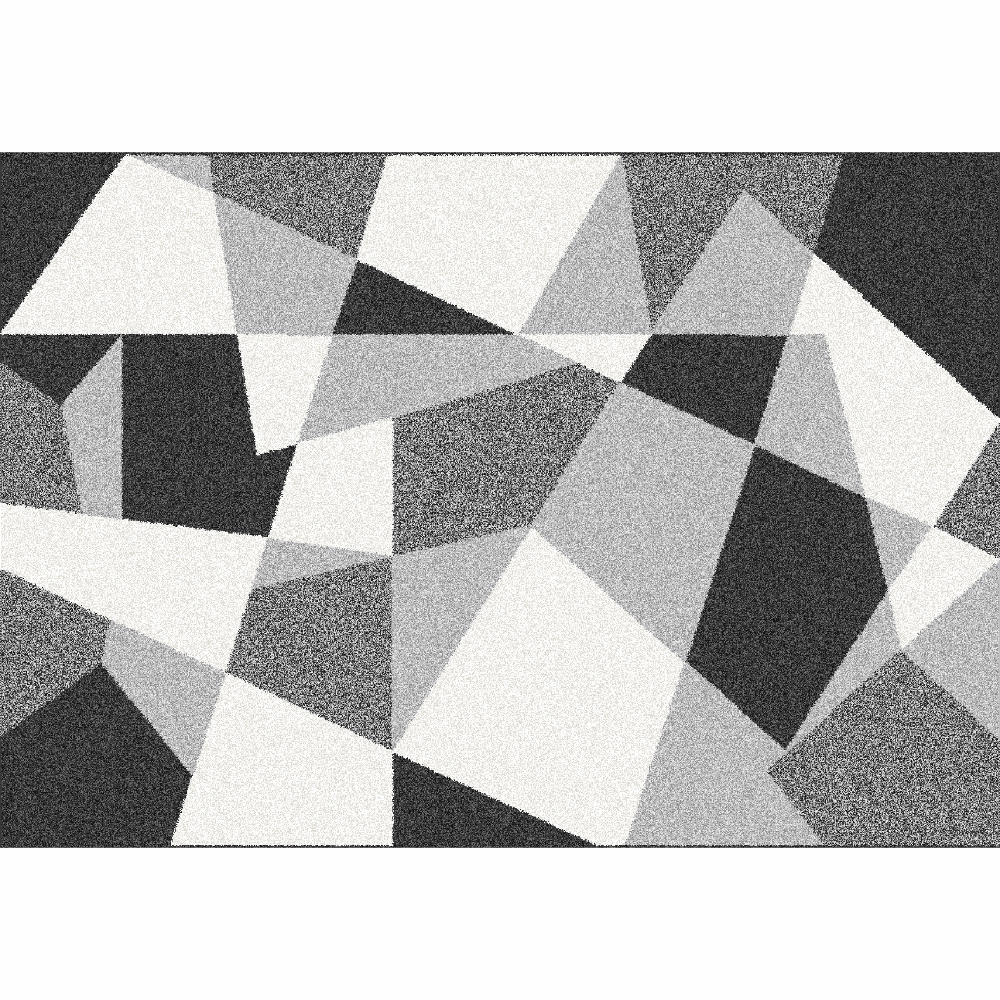 Koberec, černá/šedá/bílá, 133x190, SANAR
