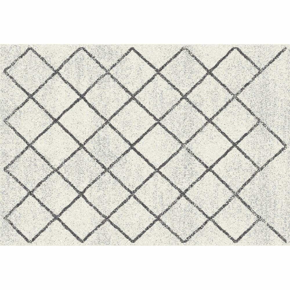 Szőnyeg, bézs/minta, 67x120, MATES TYP 2