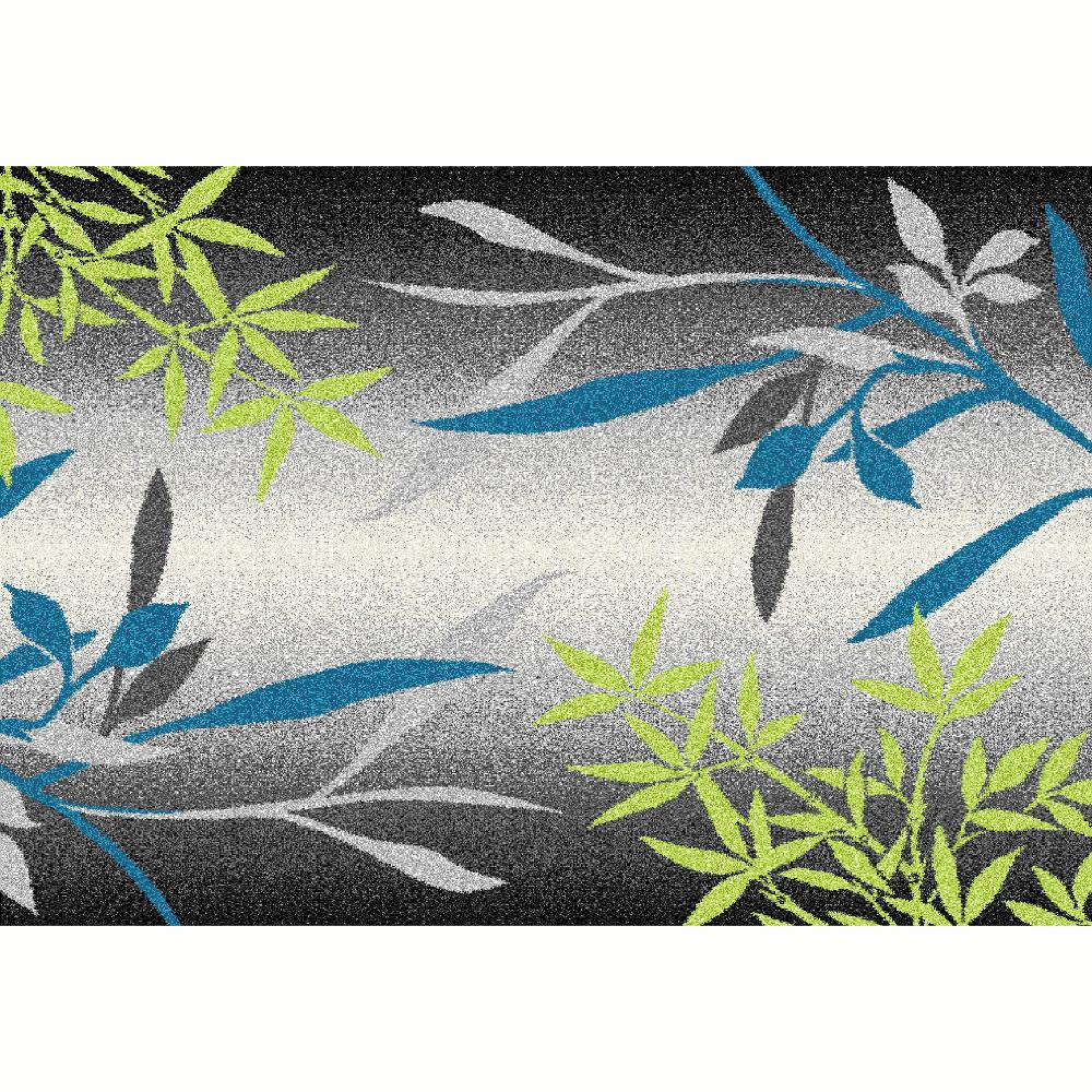 Koberec, vzor listy, viacfarebný, 67x120, TASNIM