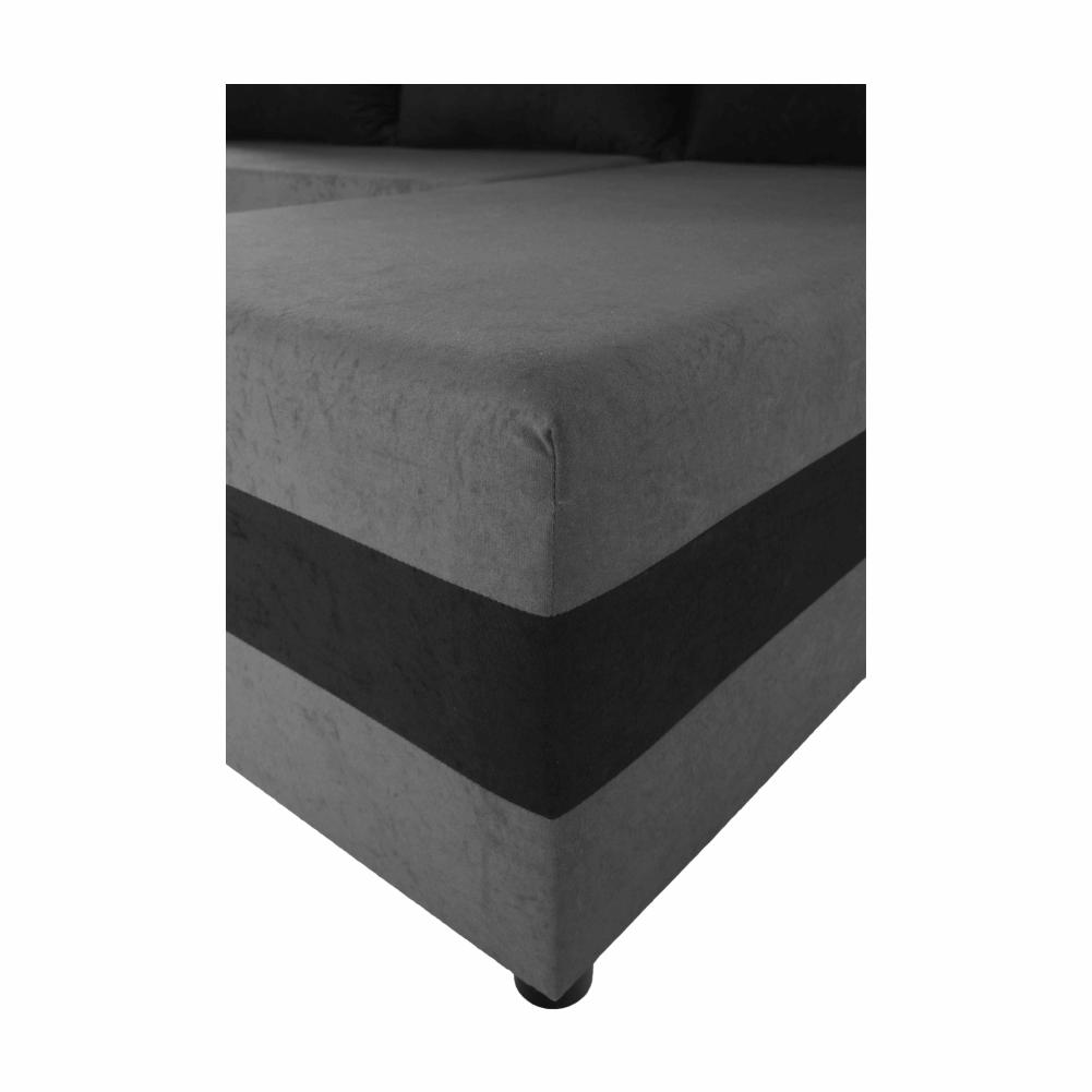 Coltar extensibil Paulita Gri/Negru