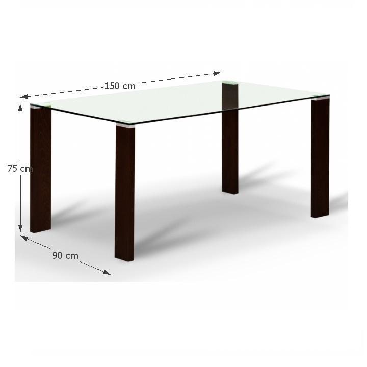 Jedálenský stôl, s tvrdeným sklom 12 mm, wenge, NEMEZ
