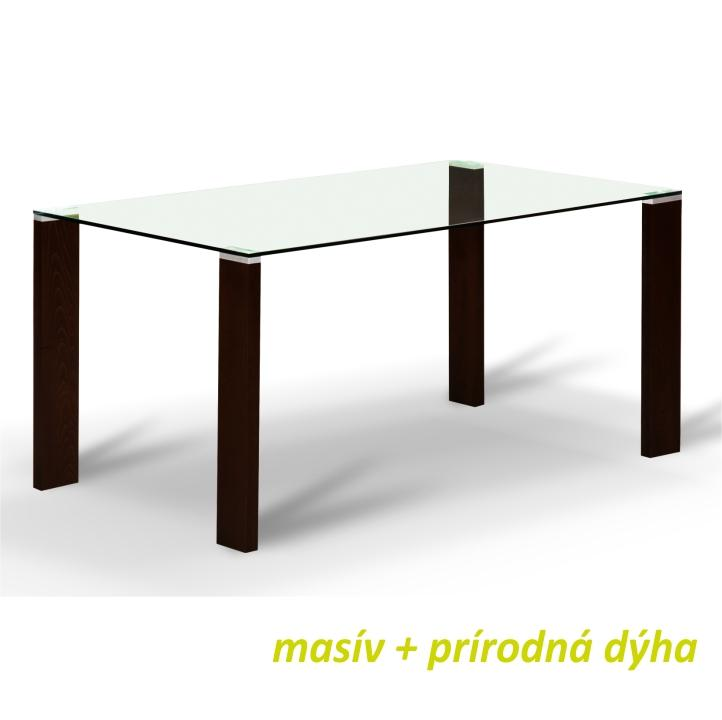 Jedálenský stôl, wenge/tvrdené sklo, NEMEZ