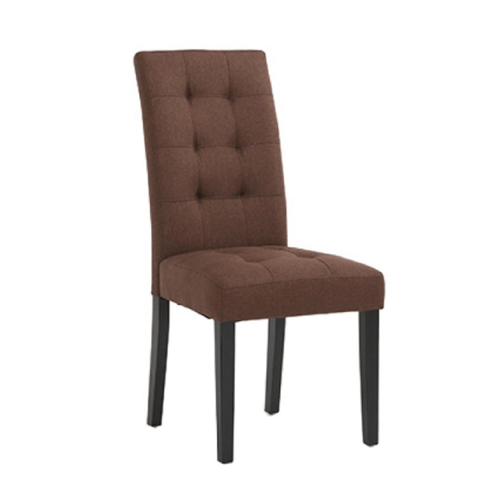 Jídelní židle, hnědá/černá, REFIN NEW