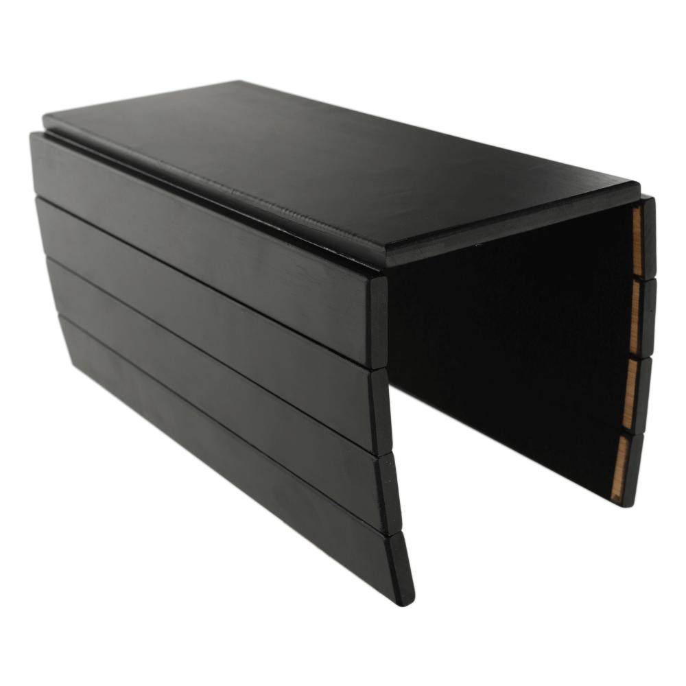 Odkladacia plocha/podložka na podrúčku sedačky, bambus, čierna, ALTE