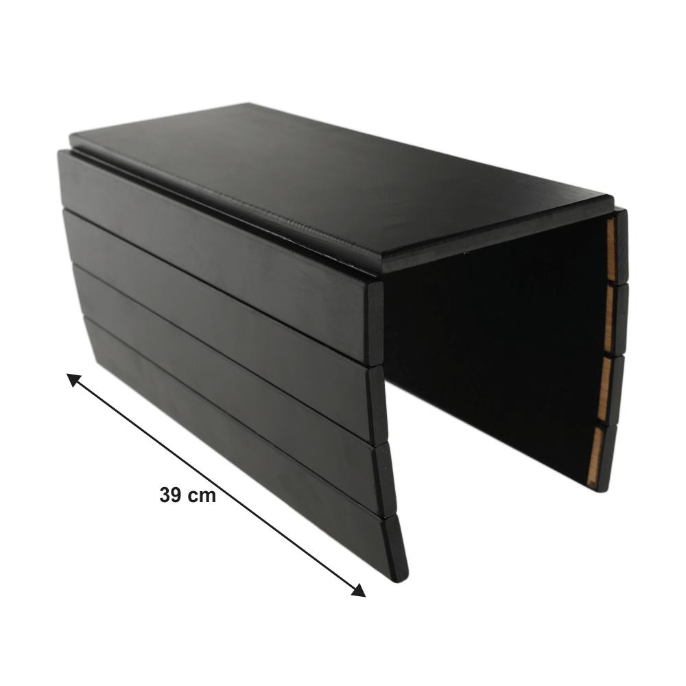 Odkládací plocha / podložka na područky sedačky, bambus, černá, ALTE