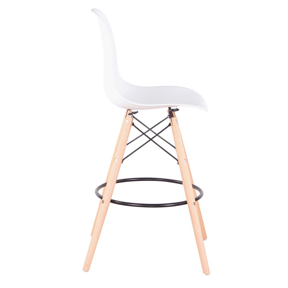 Set 6 buc scaun de bar, alb/fag, CARBRY 2 NEW 5