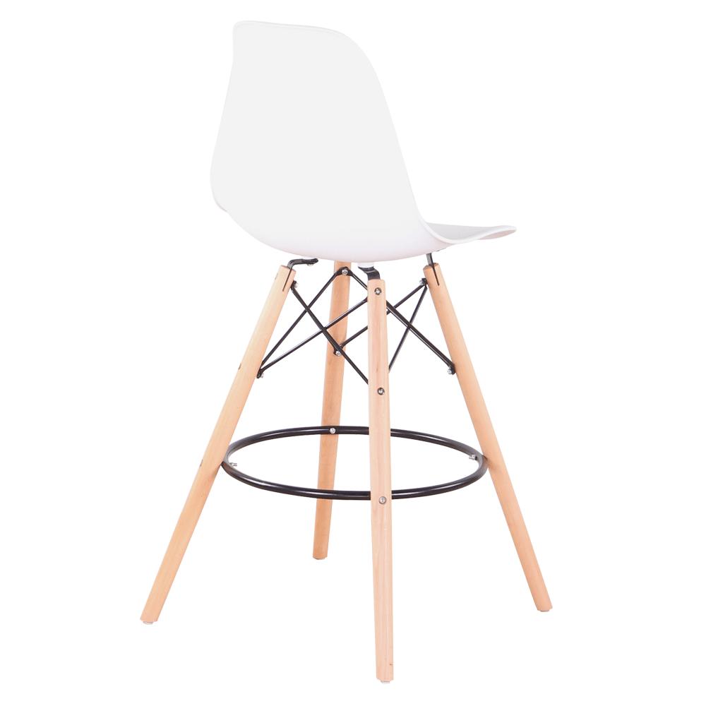 Set 6 buc scaun de bar, alb/fag, CARBRY 2 NEW 3