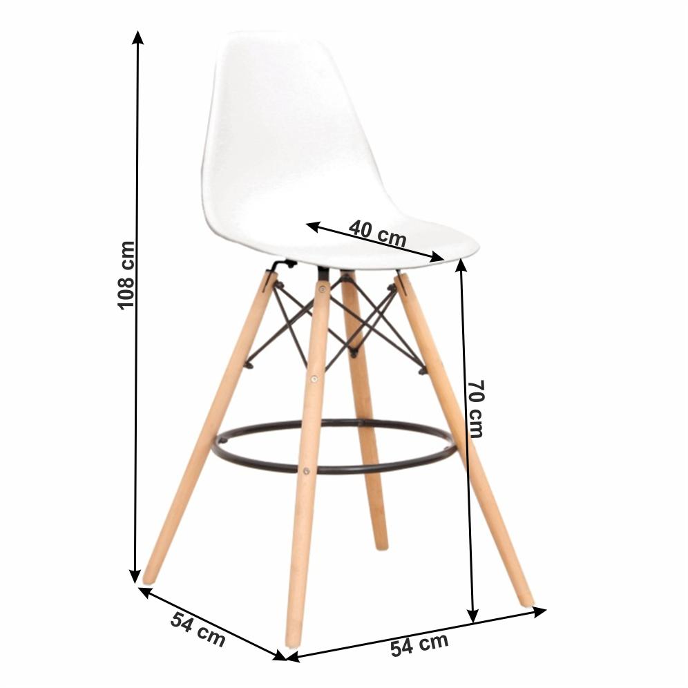 Set 6 buc scaun de bar, alb/fag, CARBRY 2 NEW 2