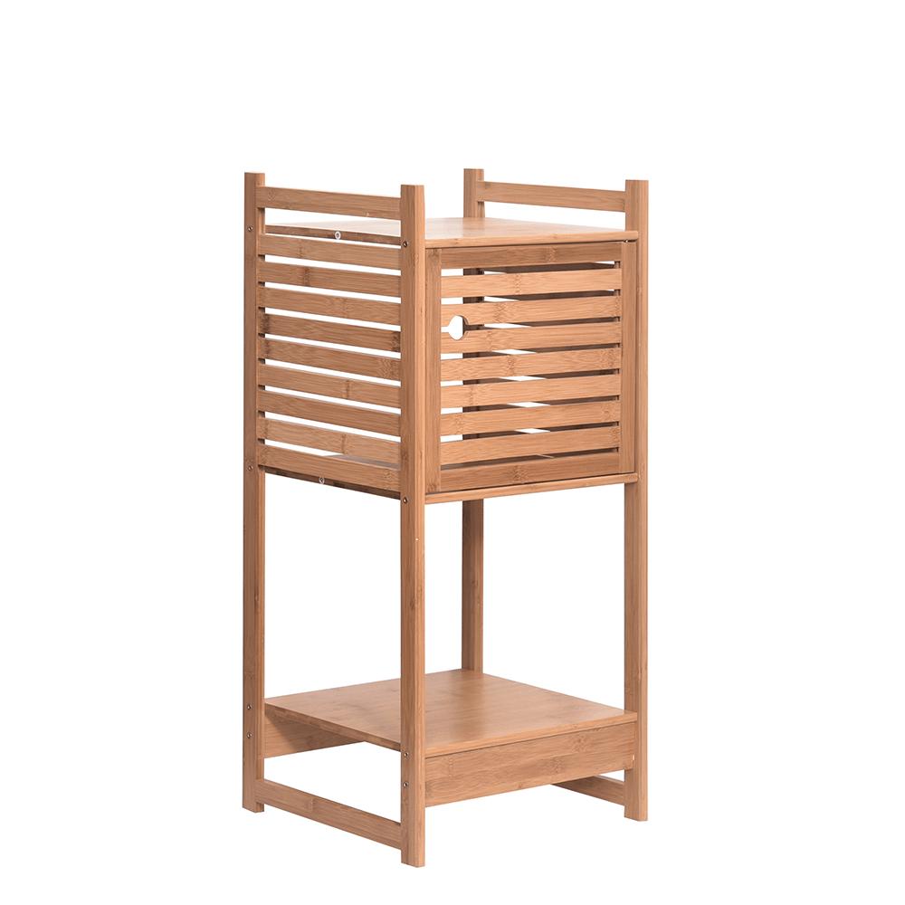 Regál, prírodný bambus, SELENE TYP 1