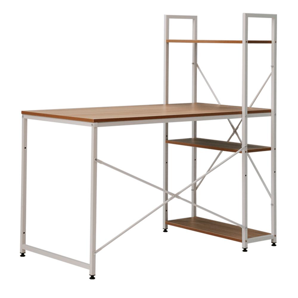 Birou PC / birou multifuncţional practic, stejar / alb, VEINA