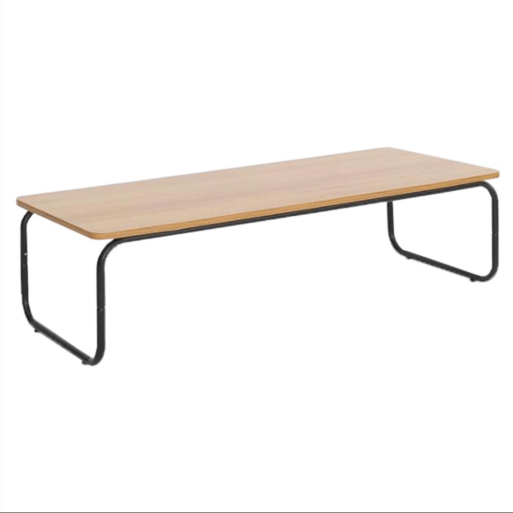 Konferenční stolek, dub/černá, LAVERNE TYP 1