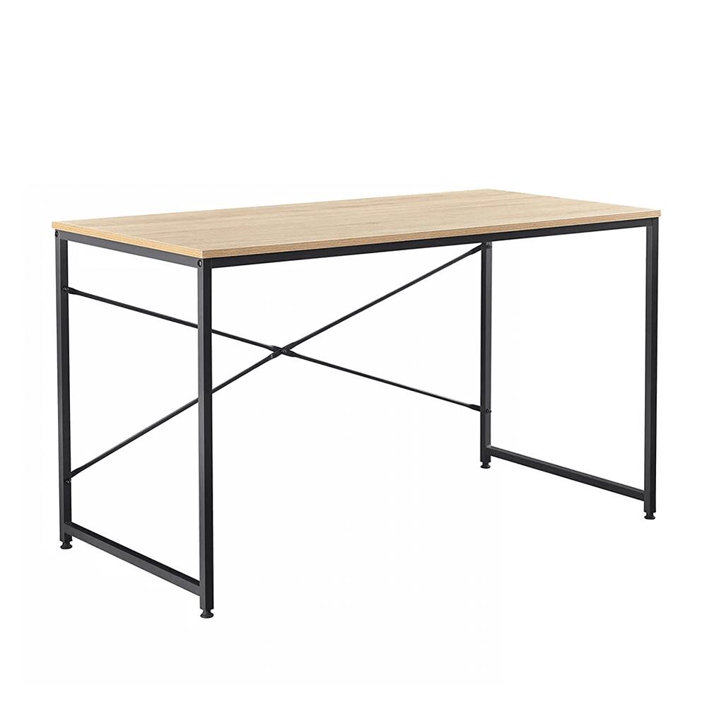 Písací stôl, dub/čierna, 120x60 cm, MELLORA