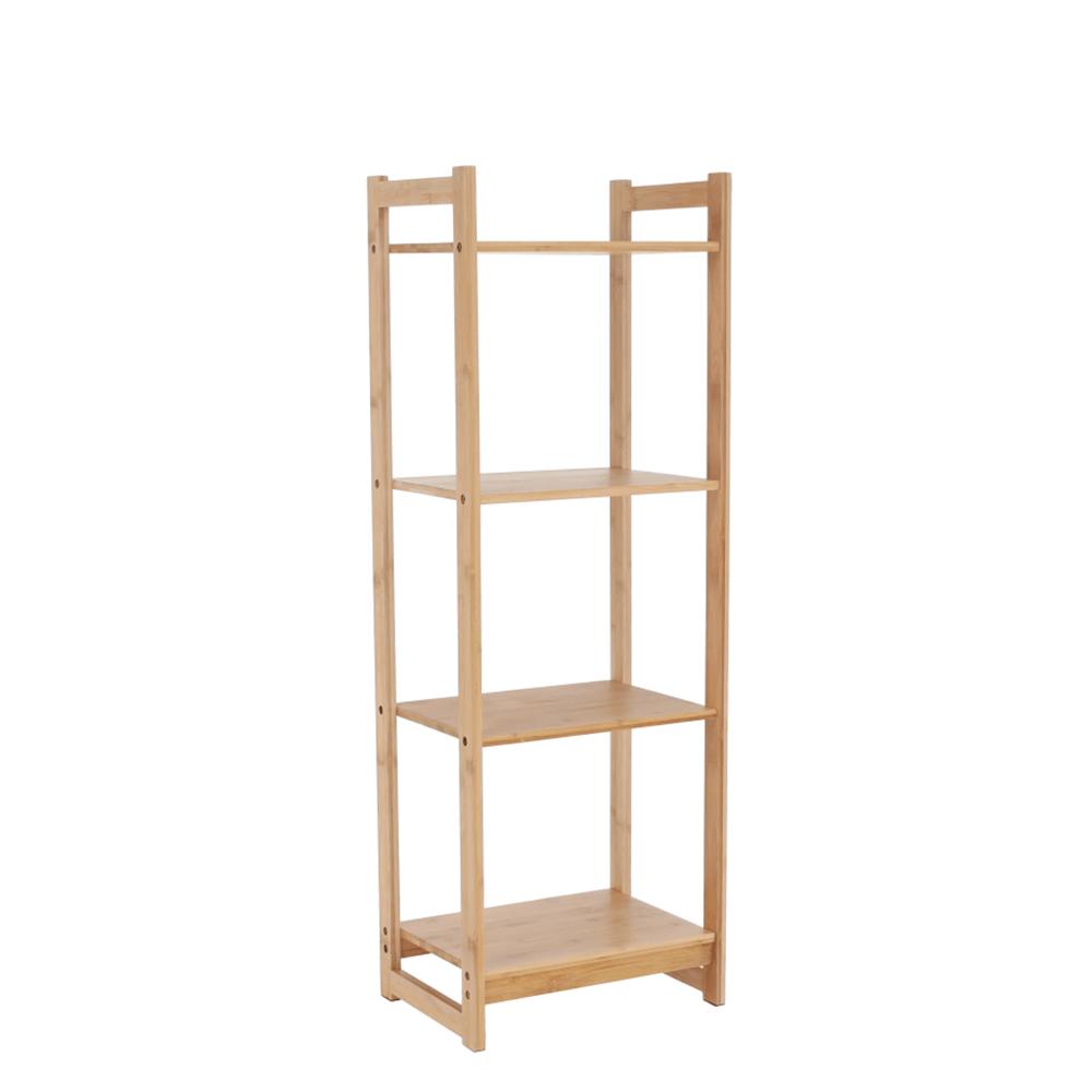 4-poličkový regál, prírodný bambus, IMPEROR TYP 2
