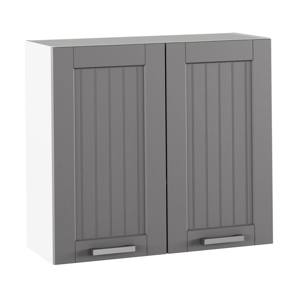 Felső szekrény, sötétszürke/fehér, JULIA TYP 11