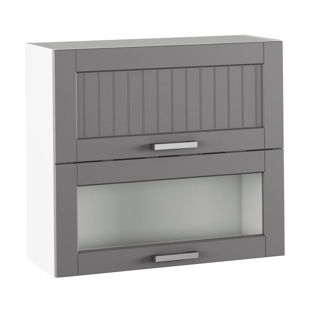 Felső szekrény, sötétszürke/fehér, JULIA TYP 13