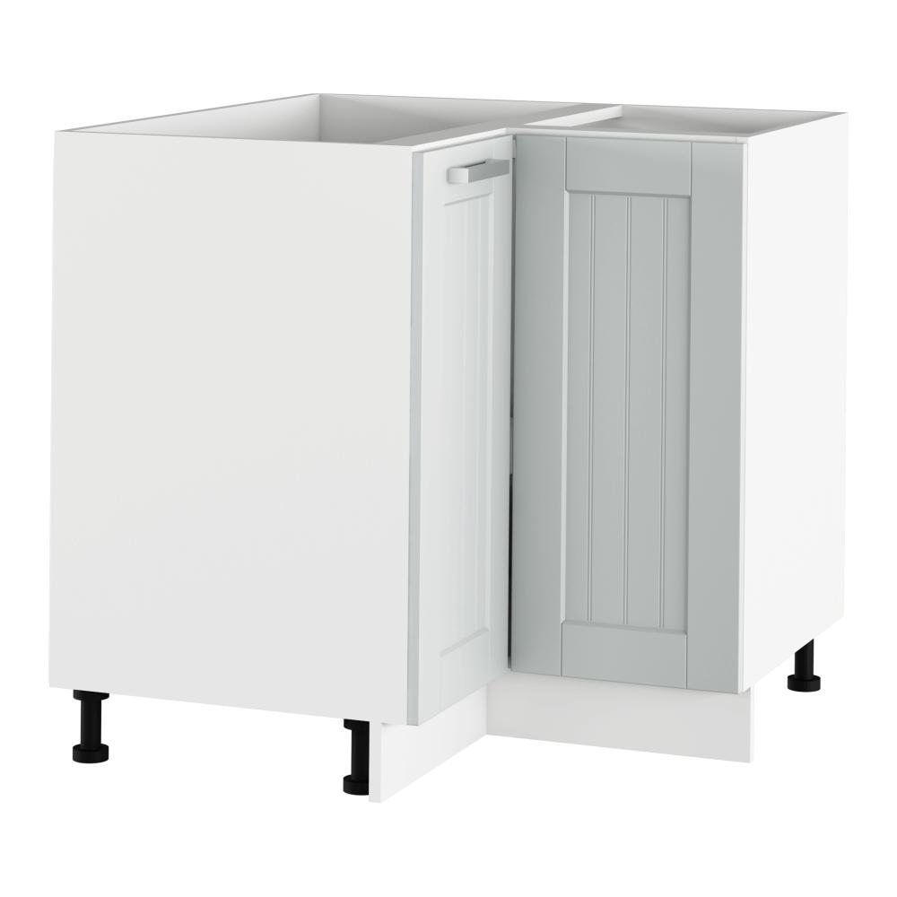 Spodní rohová skříňka, světlešedá/bílá, JULIA TYP 62