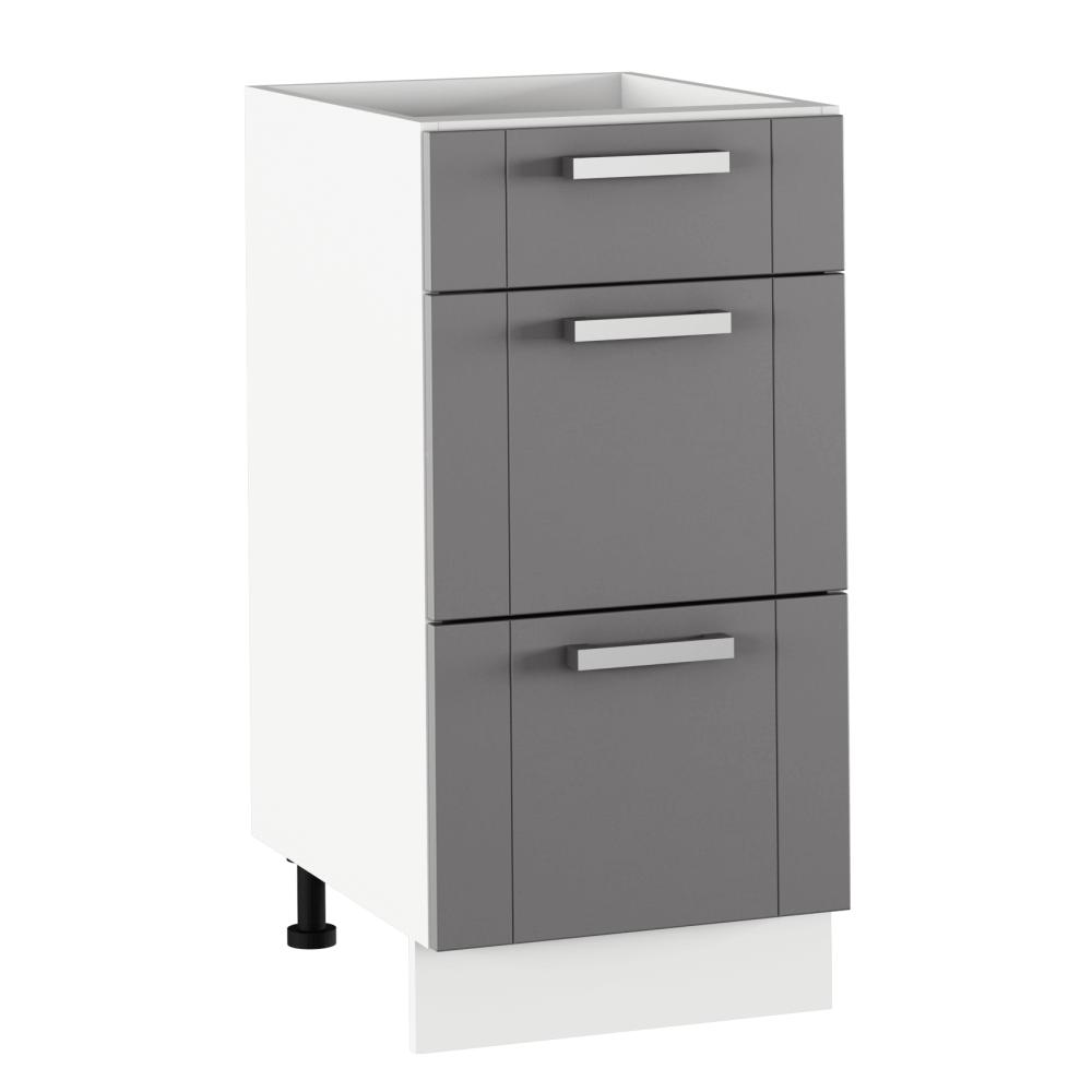 Alsó szekrény, sötétszürke/fehér, JULIA TYP 53