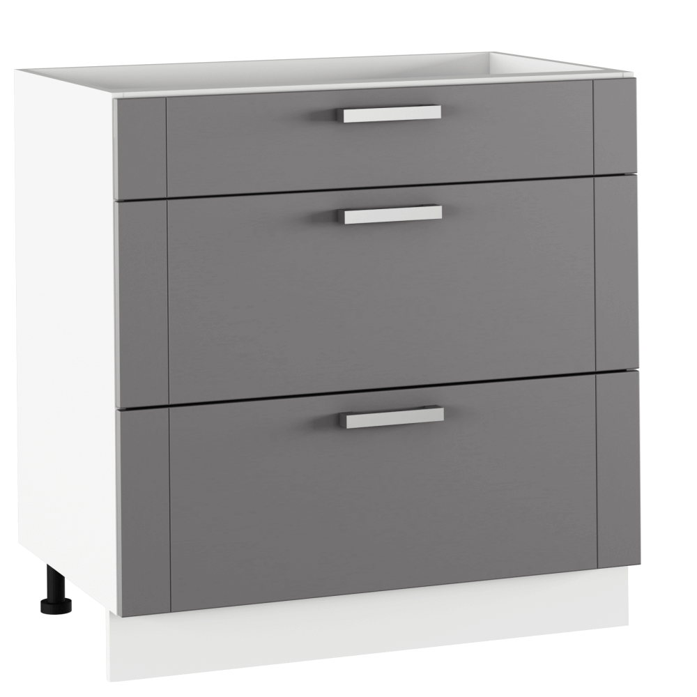 Spodní skříňka, tmavě šedá/bílá, JULIA TYP 61