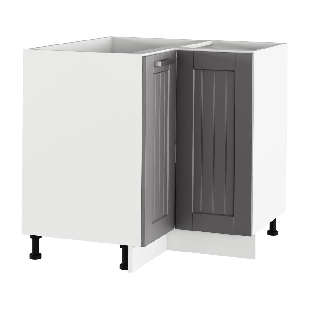 Spodní rohová skříňka, tmavě šedá/bílá, JULIA TYP 62
