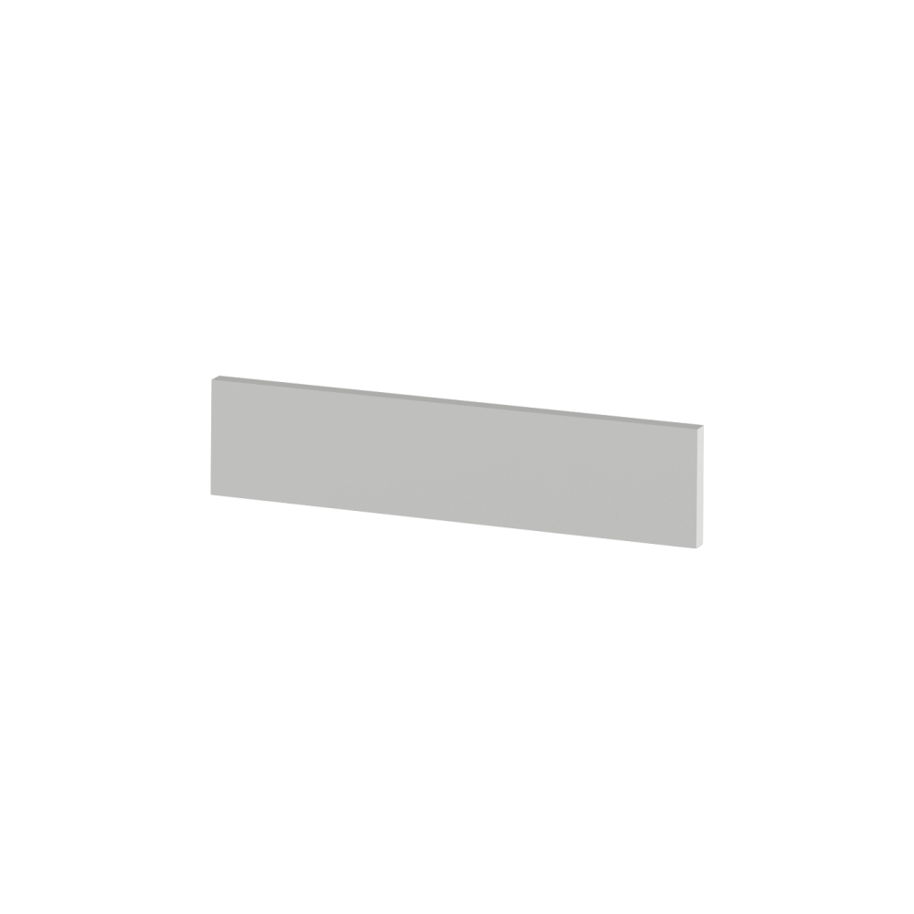 Koncový boční sokl na nízké skříňky, bílá, JULIA TYP 91