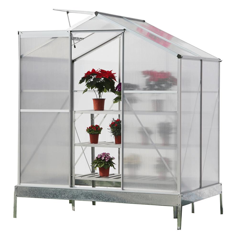 Záhradný skleník, polykarbonát, 190x130x219cm, KACEN TYP 1