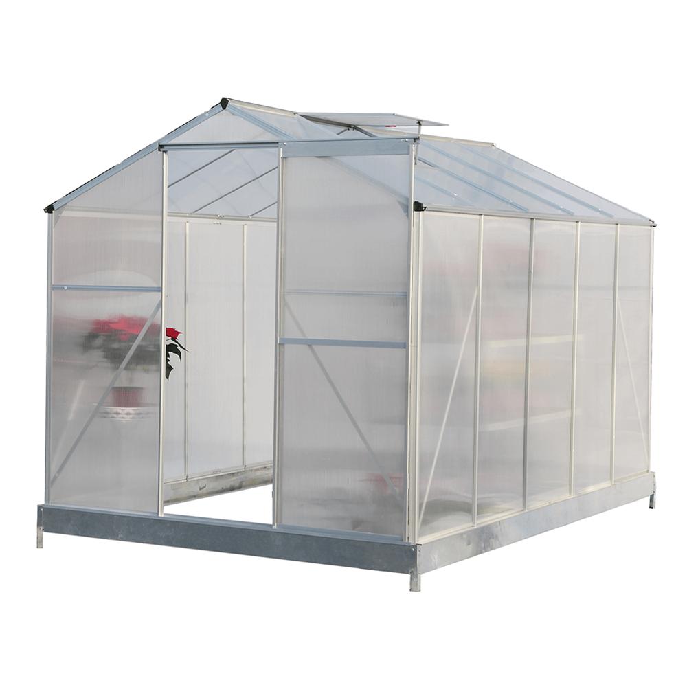Kerti üvegház, polikarbonát, 190x314x219cm, KACEN TYP 4