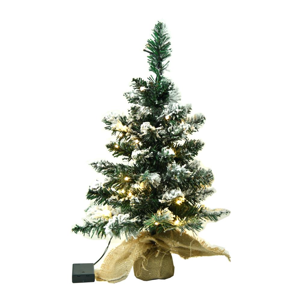 Pom de Crăciun cu lumini, înzăpezit, 60 cm, CHRISTMAS TIP 1