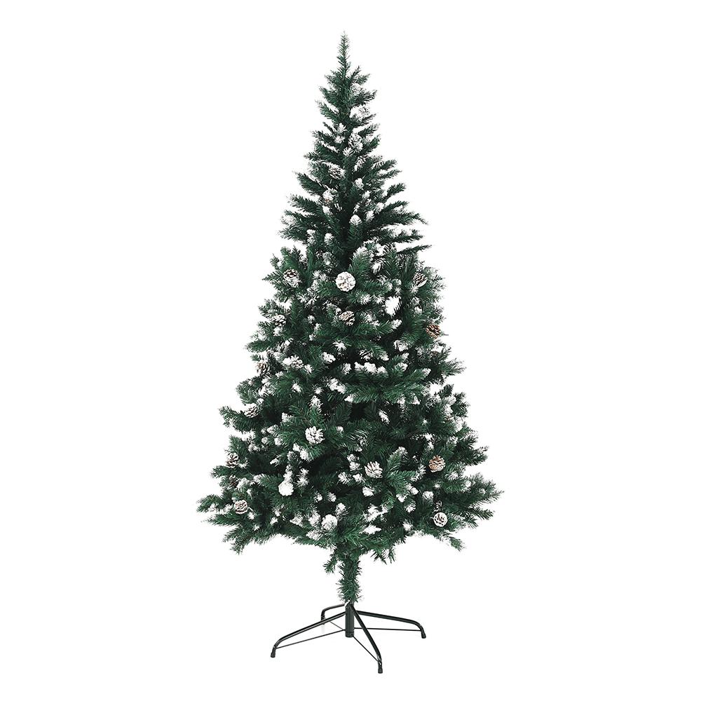 Karácsonyfa tobozokkal, havas,  180cm, CHRISTMAS TYP 4