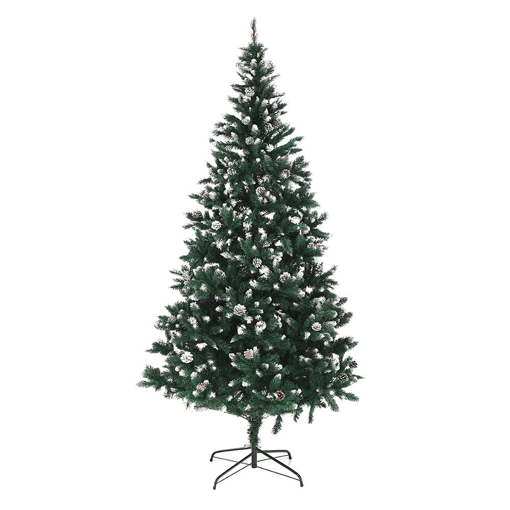 Karácsonyfa tobozokkal, havas, 220cm, CHRISTMAS TYP 4
