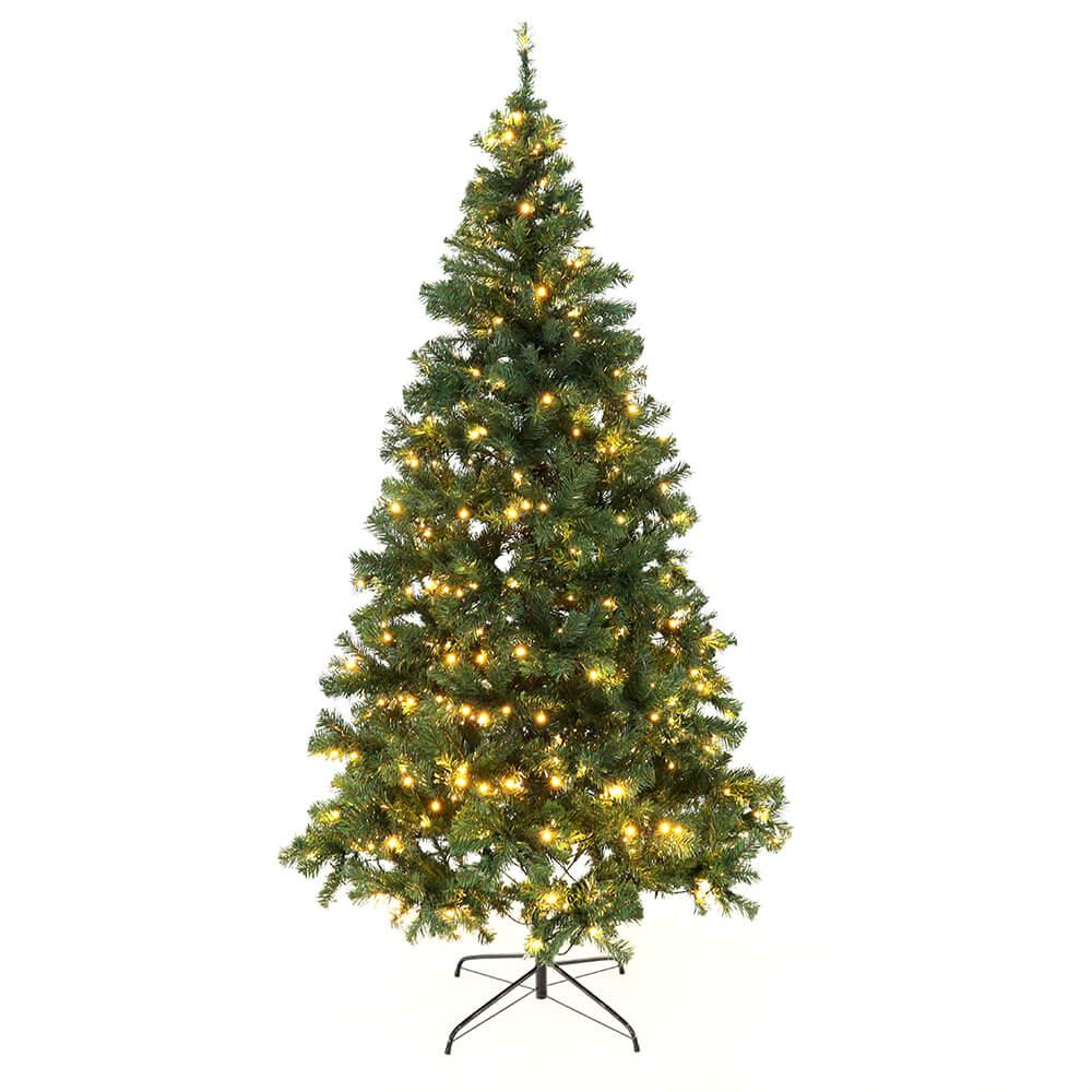 Karácsonyfa fényekkel, zöld, 220cm, LED450, CHRISTMAS TYP 5