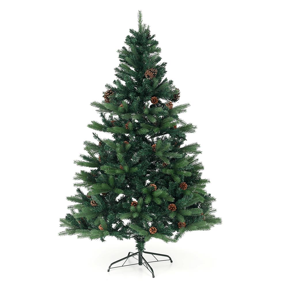 3D karácsonyfa tobozokkal, zöld, 180cm, CHRISTMAS TYP 7