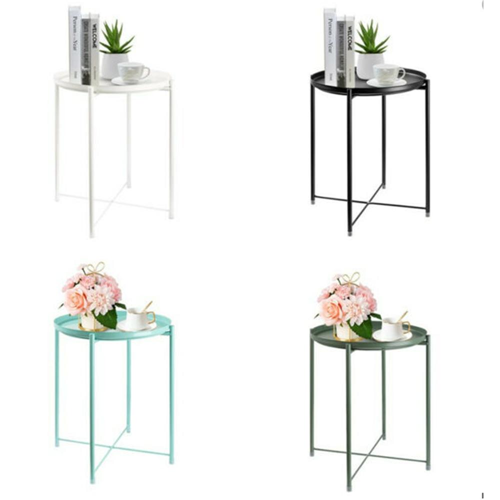 Příruční stolek s odnímatelnou tácem, černá, TRIDER