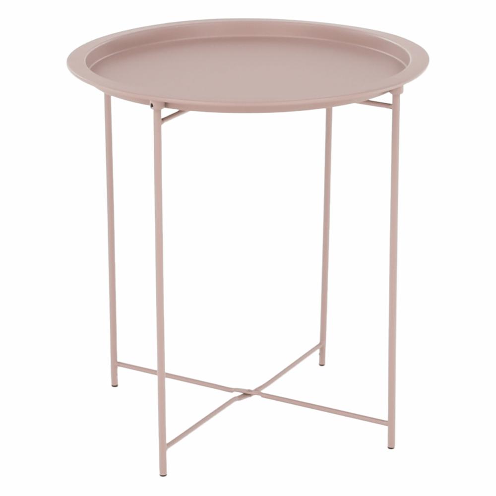 Príručný stolík s odnímateľnou táckou, nude ružová, RENDER