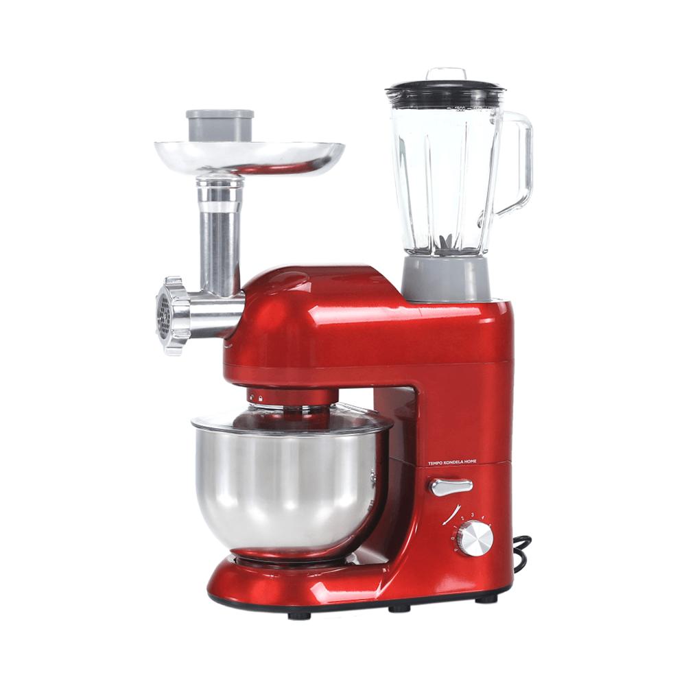 Kuchynský robot, 1800 W, 5 l, červená/chróm, KANTE