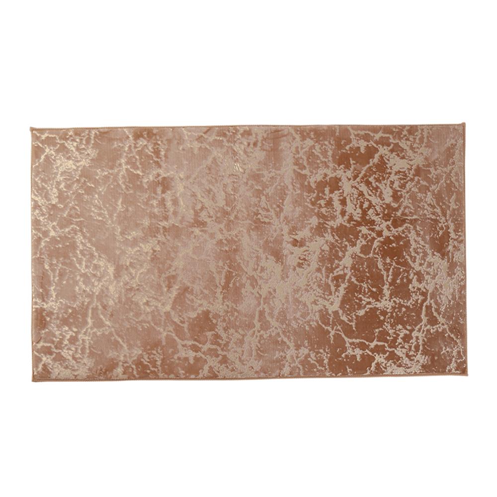 Modern szőnyeg, bézs/arany minta, 80x150, RAKEL