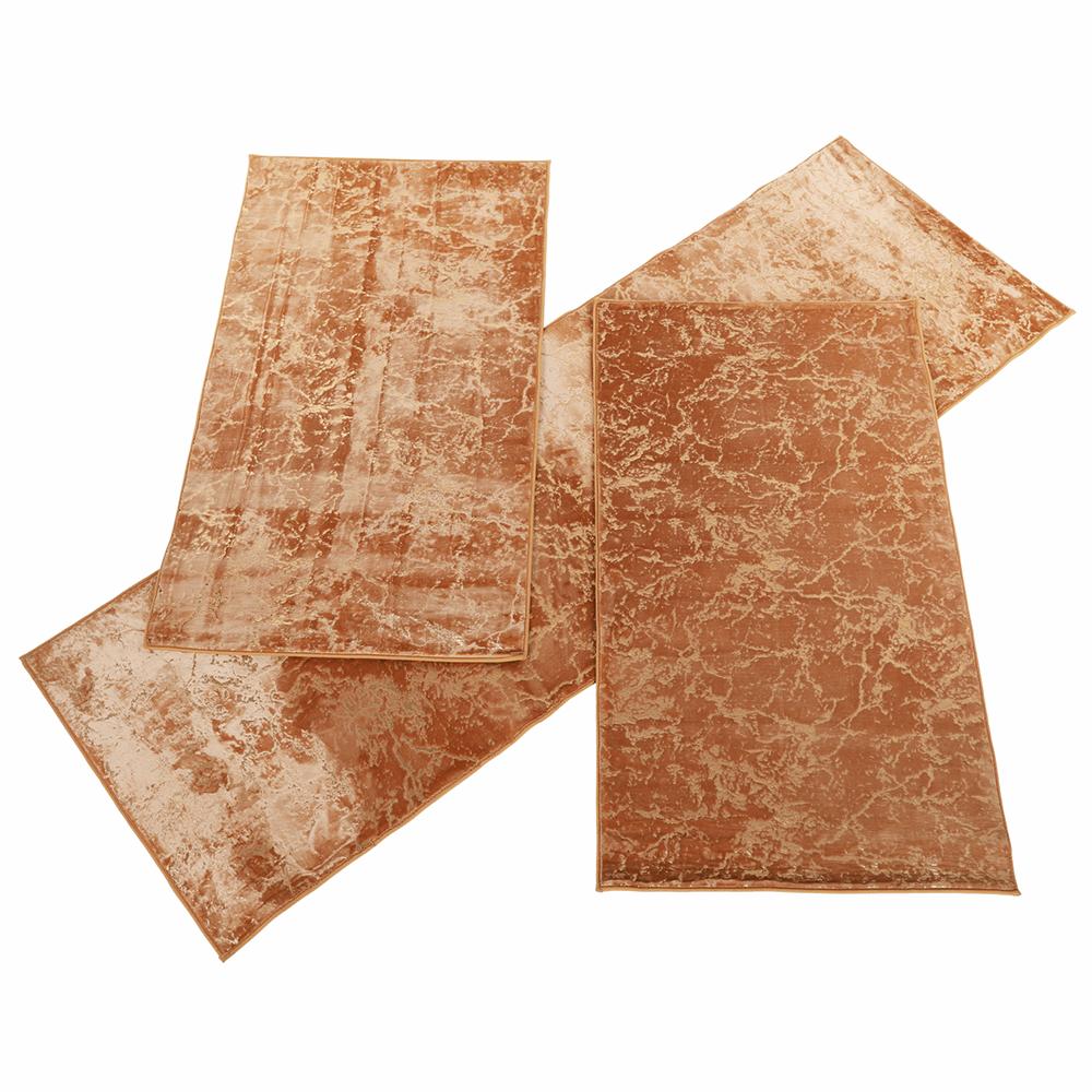 Készlet 3 db, modern szőnyeg, bézs/arany minta, RAKEL TYP 1