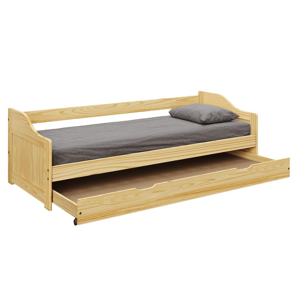 Pat cu patul suplimentar, masiv, 90x200, LAURA NEW