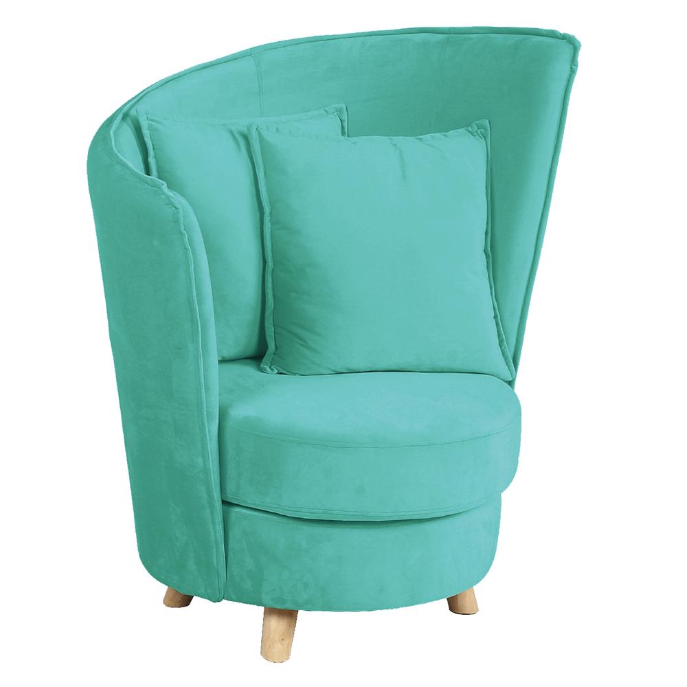 Fotel Art Deco stílusban, neo mint Velvet anyag/tölgy, ROUND