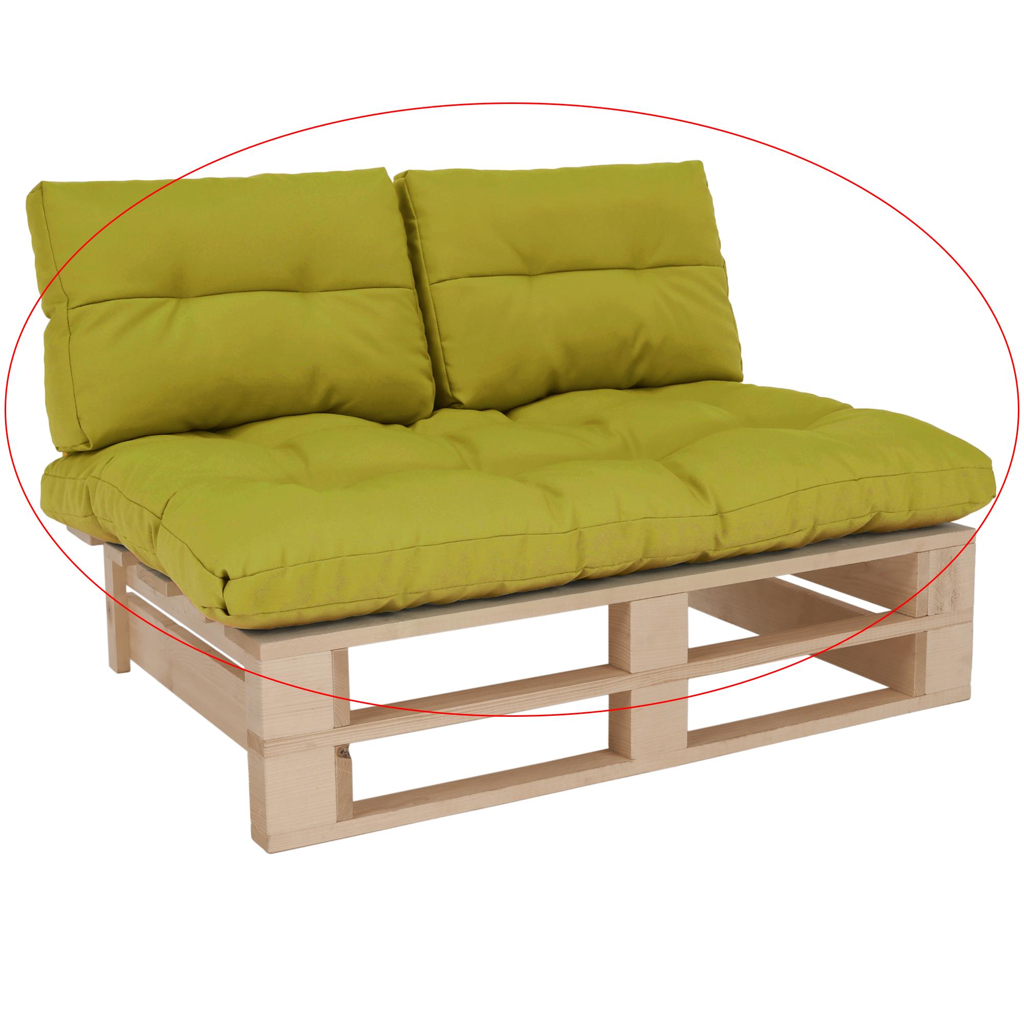 Perne pentru mobilier din paleţi, verde gălbui, ARYO