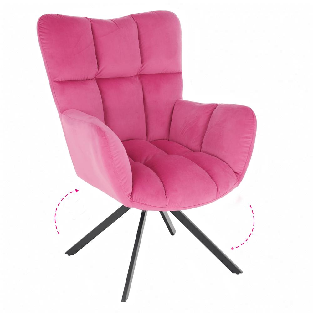 Scaun de design, ţesătură roz, KOMODO