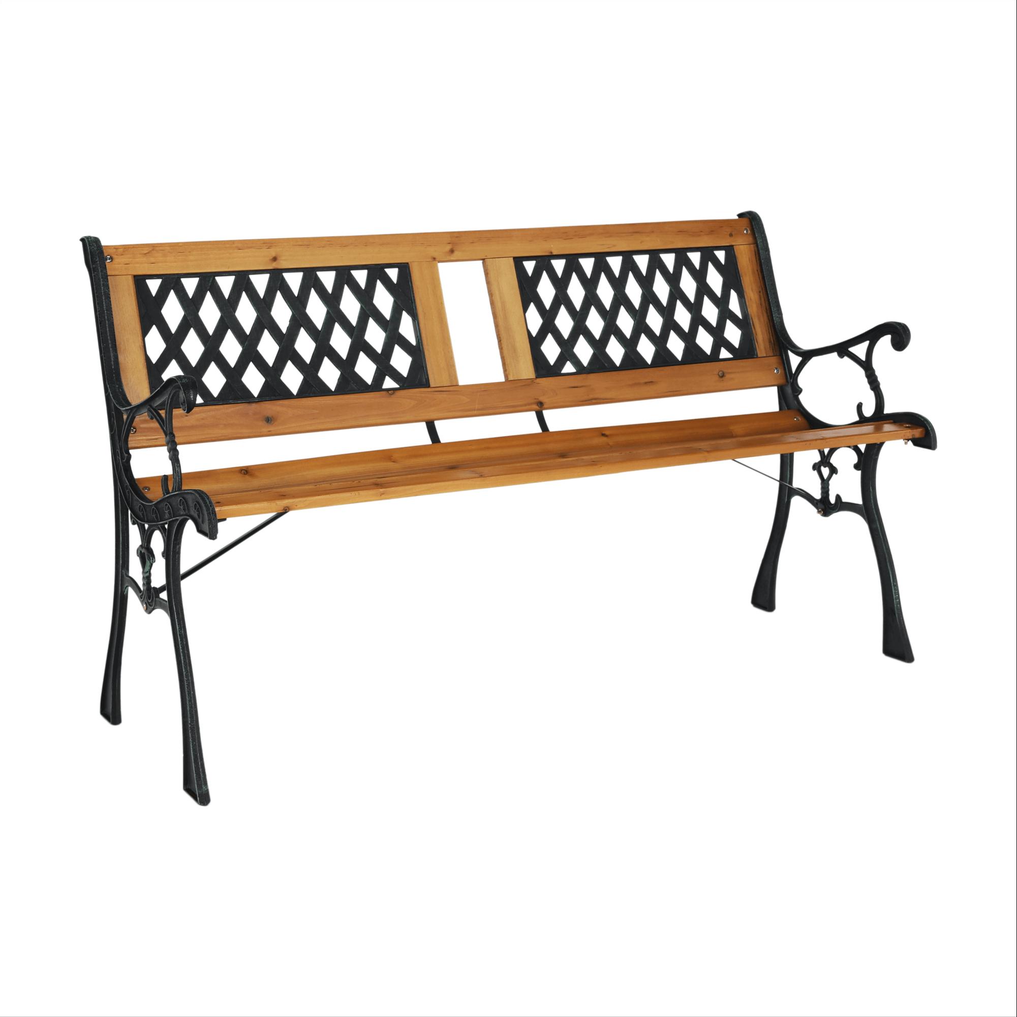 Záhradná lavička, čierna/prírodná, JADARA