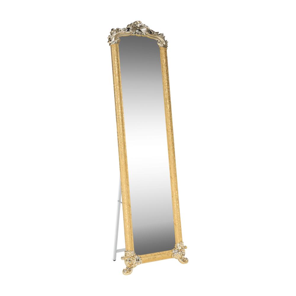 Stojanové zrkadlo, zlatá, ODINE