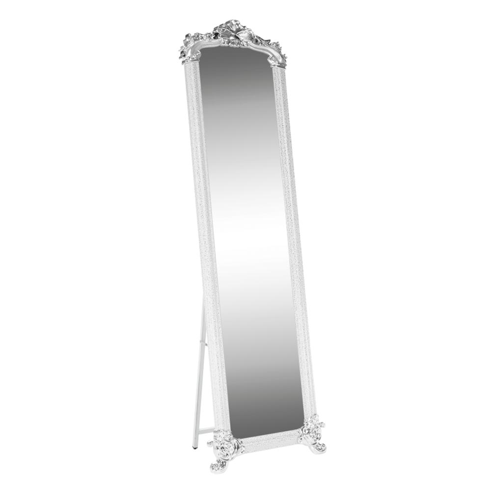 Oglindă, alb / argintiu, ODINE
