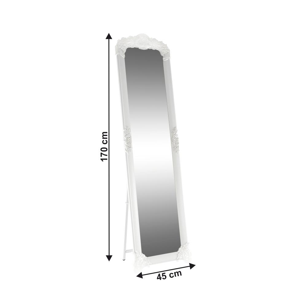 Stojanové zrcadlo, bílá / stříbrná, Casius