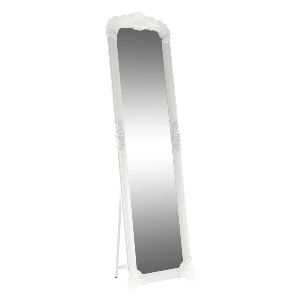 Oglindă, alb / argintiu, CASIUS