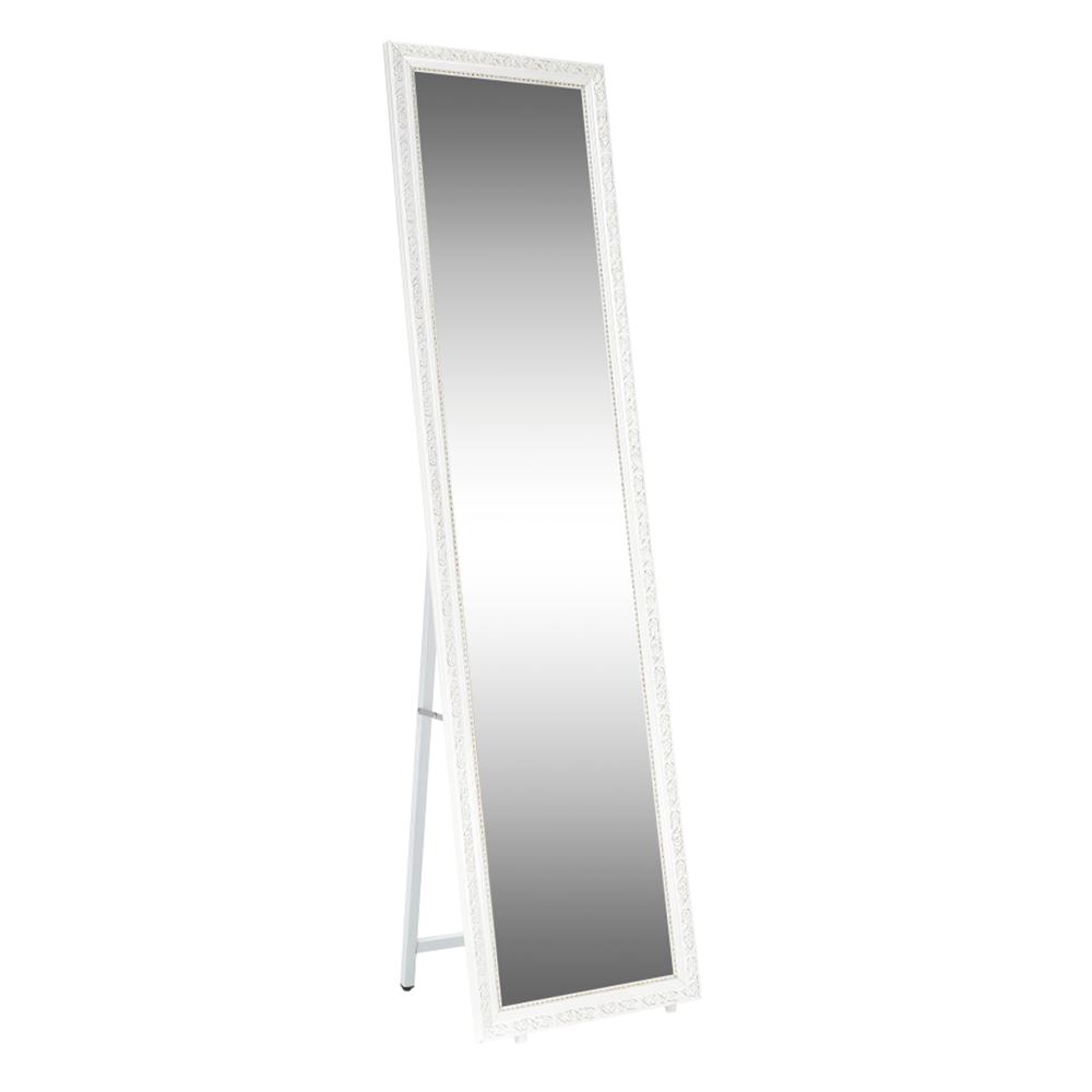 Oglindă de podea, alb/ornament auriu, LAVAL