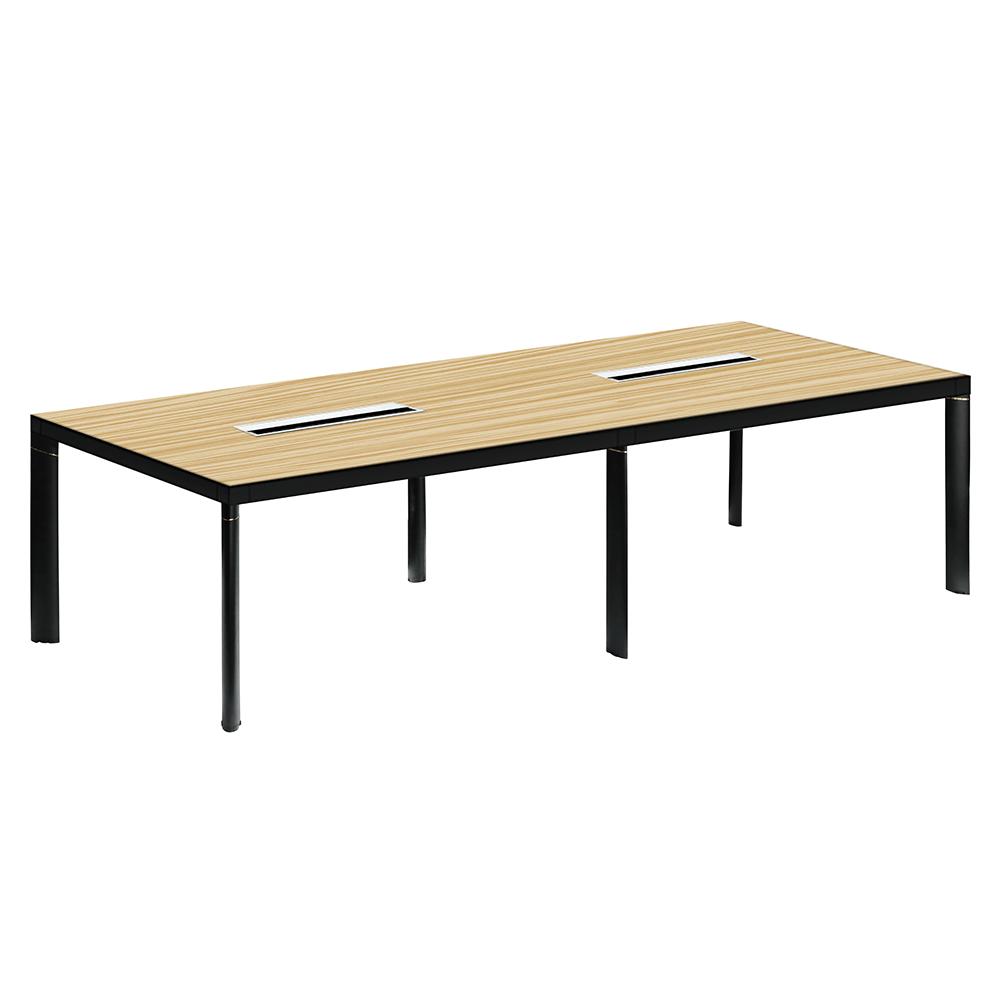 Tárgyalóasztal, bükkfa/fekete, DALY
