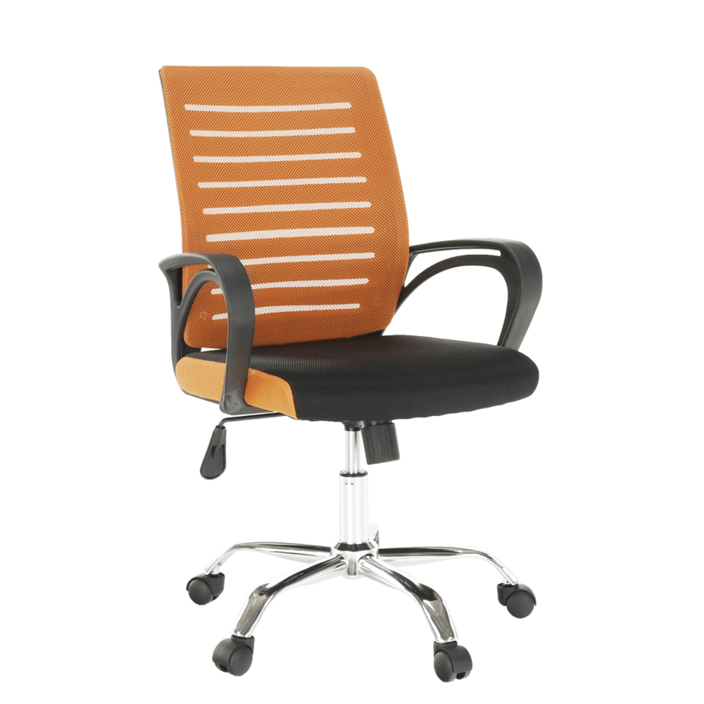 Kancelárska stolička, oranžová/čierna, LIZBON NEW