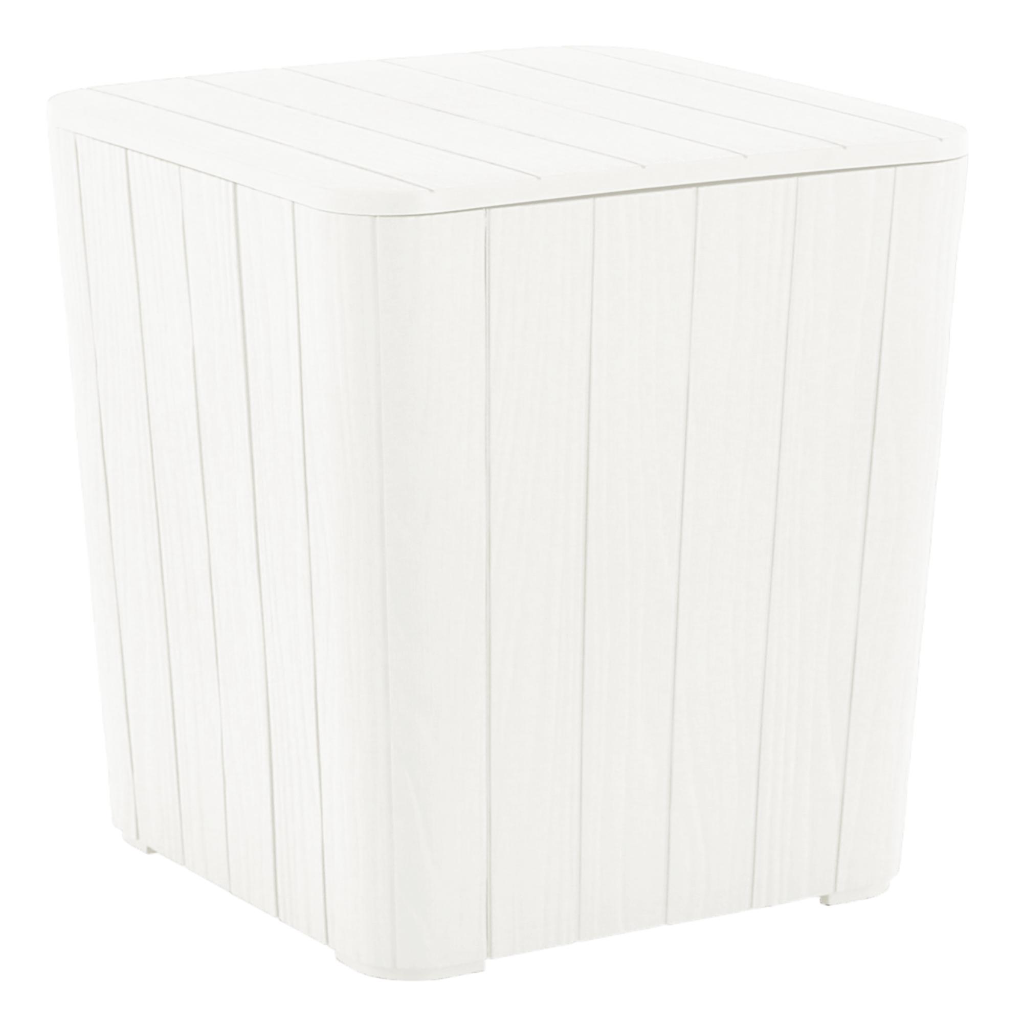 Cutie / masă de depozitare pentru grădină, albă, IBLIS