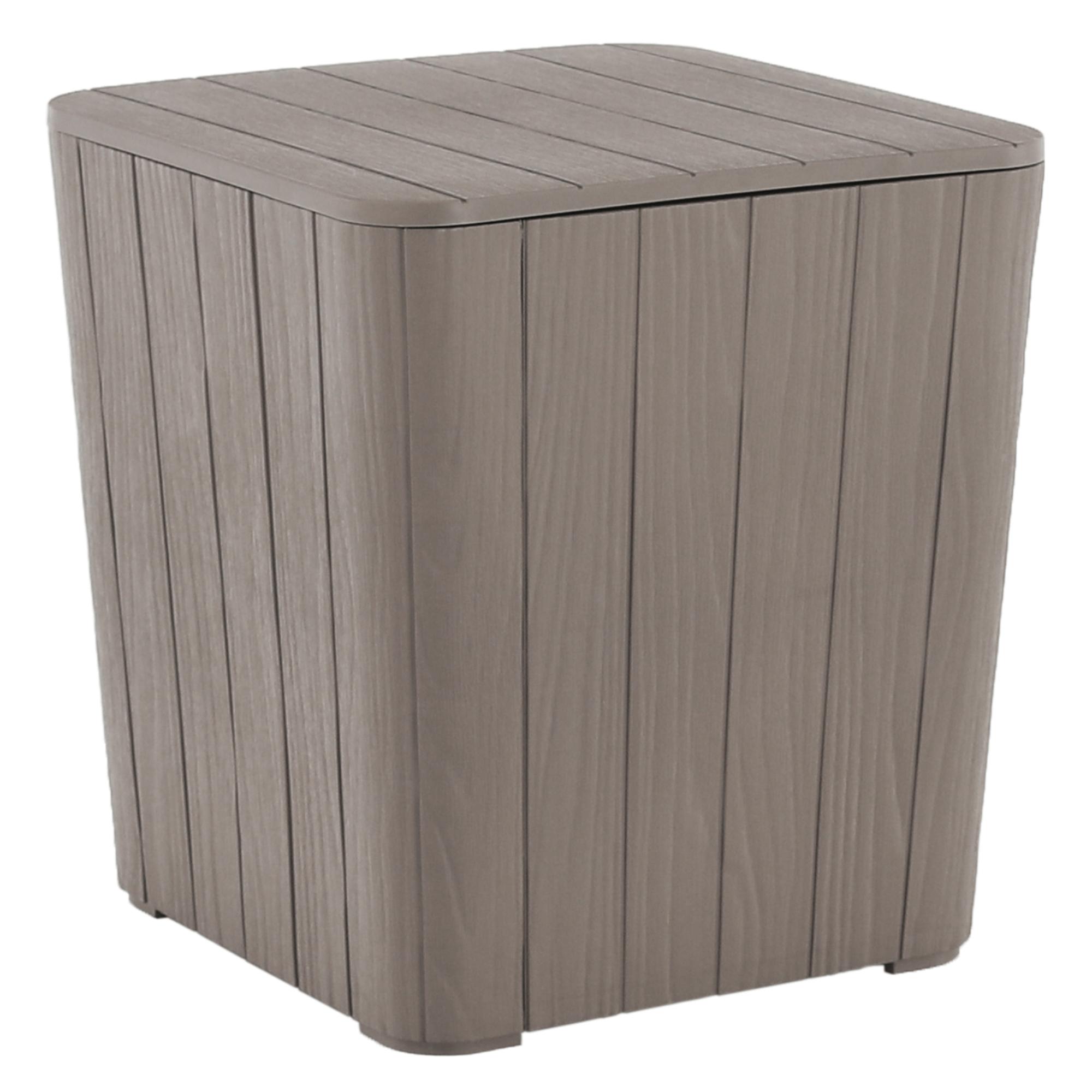 Cutie / masă de depozitare pentru grădină, gri, IBLIS